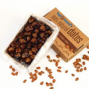 Dadels gevuld met amandel noten - doos 750 gram