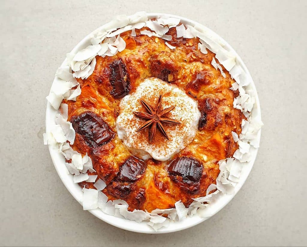 Chai-Spiced Zoete Aardappel Havermout