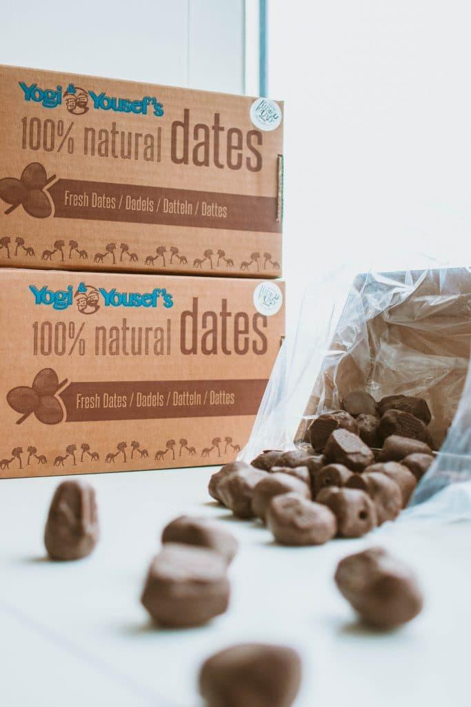 Chocoladedadels uit de doos