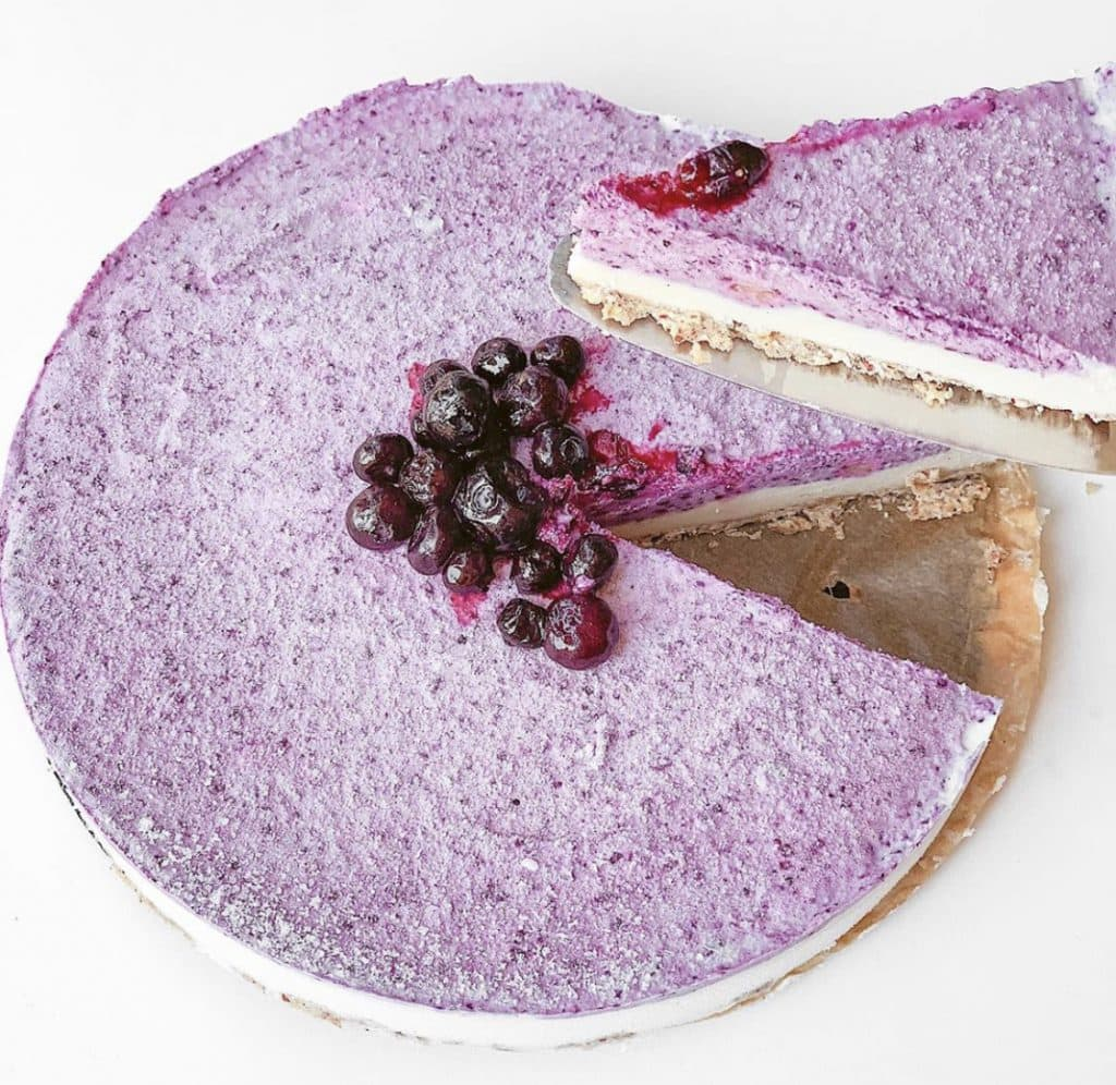 Blueberry cheesecake vegan