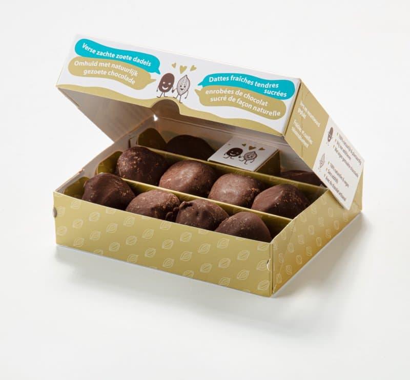 Dadels gevuld met chocolade